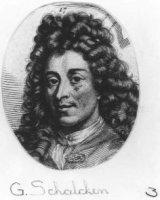 Portret van Godfried Schalcken (1643-1706).