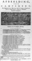 Plattegrond van het Campement op Malieveld op 29 mei 1742.