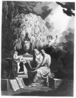 Portret van Johannes Hulsius van Wijnpersse (1764-1810), theoloog; in silhouet op rol papier; vastge ...