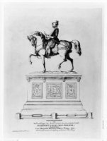 Het ruiterstandbeeld van prins Willem I in het Noordeinde