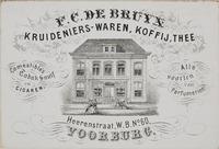 F.C. de Bruijn Kruideniers winkel op Herenstraat nr. 25 te voorburg.