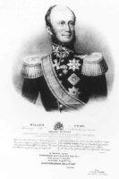 Portret van Willem II Frederik George Lodewijk (1792-1849), prins van Oranje, borstbeeld, en face. D ...