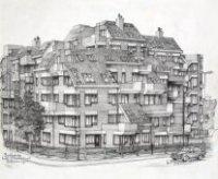 het appartementengebouw Badhuisweg hoek Stevinstraat, ter plaatse van het vroegere hotel/rusthuis Ro ...