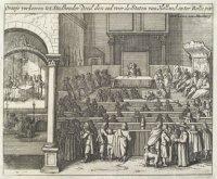 Prins Maurits aanvaardt het stadhouderschap en legt de eed af in de Staten van Holland, 14 november  ...