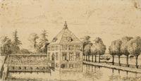 Gezicht naar Buitenplaats Hofwijck in Voorburg.