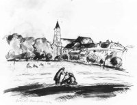 Impressie van het Malieveld met op de achtergrond de Prinsessegracht van Korte Voorhout tot en met d ...