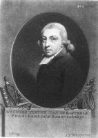 Portret in ovaal van de theoloog Reinier Pieter van de Kasteele (1767-1845) met randwerk en met onde ...