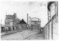 De Centrale Werkplaats Telegraaf en Telefonie van de PTT aan de Binckhorstlaan, gezien vanaf het Tre ...