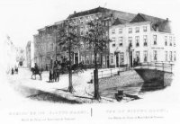 De zogenaamde 'Nieuwe Markt', voorheen en later Wijnhaven genaamd, ter hoogte van de latere Kalverma ...