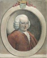 Portret van Jan Hudde Dedel (Amsterdam 1702- 's-Gravenhage 1777), burgemeester van Den Haag. In ovaa ...