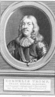 Portret in ovaal van de militair Cornelis Tromp (1629-1691) in harnas en met 4-regeling onderschrift ...