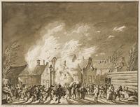 Brand te Leidschendam op 1 januari 1786.
