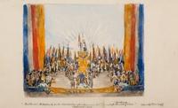 Hulde van Nederland en de Overzeesche Gebieden aan het Prinselijk bruidspaar op 5 januari 1937.