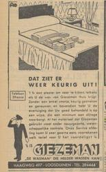 Advertentie Giezeman in Haagsche Courant 11 april 1935