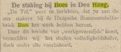Staking - bericht in De Tribune 4 mei 1927