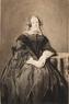 portret van Maria Clazina Groen van Prinsterer; (1806-1868); echtgenote van N. Philipse; zittend kni ...