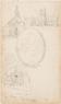 Schets van koning Willem III (?) , borstbeeld, en profil naar links, in ovale lauwerkrans. Het papie ...