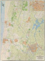1941 - Kaart van Leiden, Oegstgeest, Rijnsburg, Sassenheim, Lisse, Leiderdorp, Noordwijk Binnen, Noordwijk aan zee, Katwijk Binnen, Katwijk aan zee, Noordwijkerhout, Warmond, Kaag, Voorhout