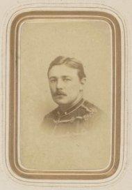 Carte de visite van 1e luitenant L.W.H.K. van Bothnia Andreae
