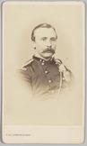 Carte-de-visite van 1e luitenant J.J. Meijer