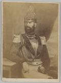 Foto van een geschilderd portret van de 1e luitenant der kurassiers rond 1840. H…