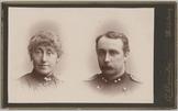 Dubbelportret van een 1e luitenant met (vermoedelijk) zijn vrouw, Cartes-de-visi…