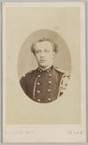 Portret van een 1e luitenant, Cartes-de-visites gemaakt door R. Severin te 's Gr…