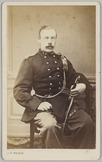 Portret van een 1e luitenant op 28 januari 1869