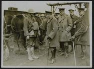 His Majesty King George Vth visits his armies in France. The King talking to an …