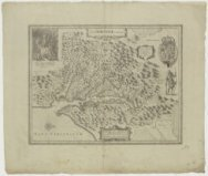 Kaart van Virginia, getiteld 'Nova Virginiae Tabula'.<br>Map of Virginia, titled…