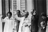 Defile Soestdijk 78; Prinses Beatrix , Prins Claus , koningin Juliana en Prins B…