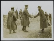 King of the Belgians on the battlefield meets an old acquaintance