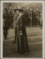 The King inspects the Houshold Battalion in Hyde Park. Princess Mary.