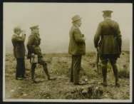 Mr Lloyd George, M. Albert Thomas and Lord Reading watching the battle