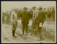 M. Albert Thomas, the French Minister of Munitions and three French artillery me…