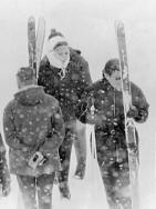 Prinses Beatrix en Claus in Gstaad, prinses Beatrix en Claus in de sneeuw