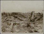 The battle of Flanders. Smashed German trenches