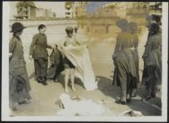 Work of the WAAC [Women's Army Auxiliary Corps] in France - a bathing parade.
