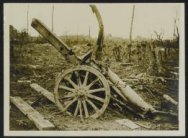 A captured German howitzer at Martinpuich
