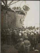 Italian reinforcements landing at Salonica.