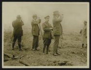 Mr Lloyd George, M. Albert Thomas and lord Reading watching a bombardment