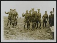 General Gough and the  King of the Belgians on the old Somme battlefield