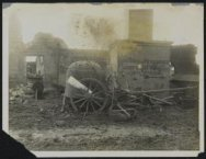 German machine-guns emplacements on wheels captured in Tilloy