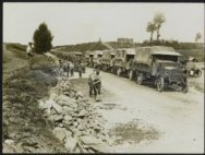A column of Motor Lorries near the Somme