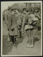 His Majesty King George Vth visits his armies in France. H.M. the King talking t…