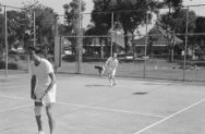 4-daags M.L. Paas Sport Tournooi in Batavia. [tennis]