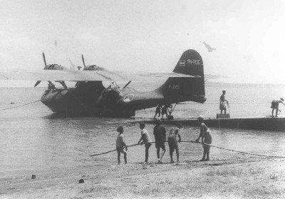 Maritieme patrouillevliegboot Consolidated PBY-5 Catalina  (1941/1946) op de helling MVKM