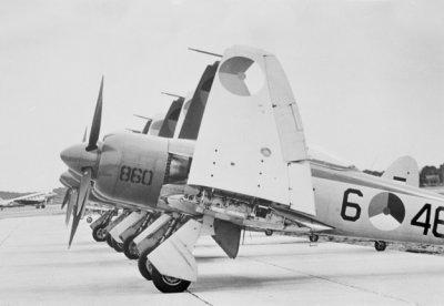 Jachtbommenwerper Hawke Seafury (1948-1957). Stuntteam SQN 860