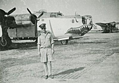 Maritieme patrouillebommenwerper Consolidated B-24J Liberator Mk. GR VI (1944-1946) van het 321 Squadron op Cocos Island