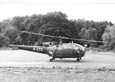 Alouette III, registratie A-275, in de start vanaf Deelen.